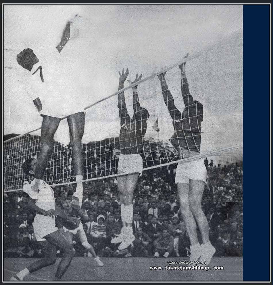 India and Iran, the 1964 Tokyo Olympic volleyball