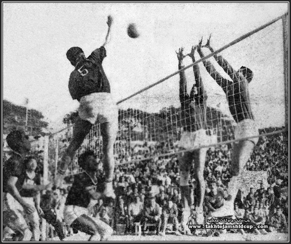 South Korea and Iran  volleyball Olympic qualifying 1964 Tokyo - New Delhi in December 1963