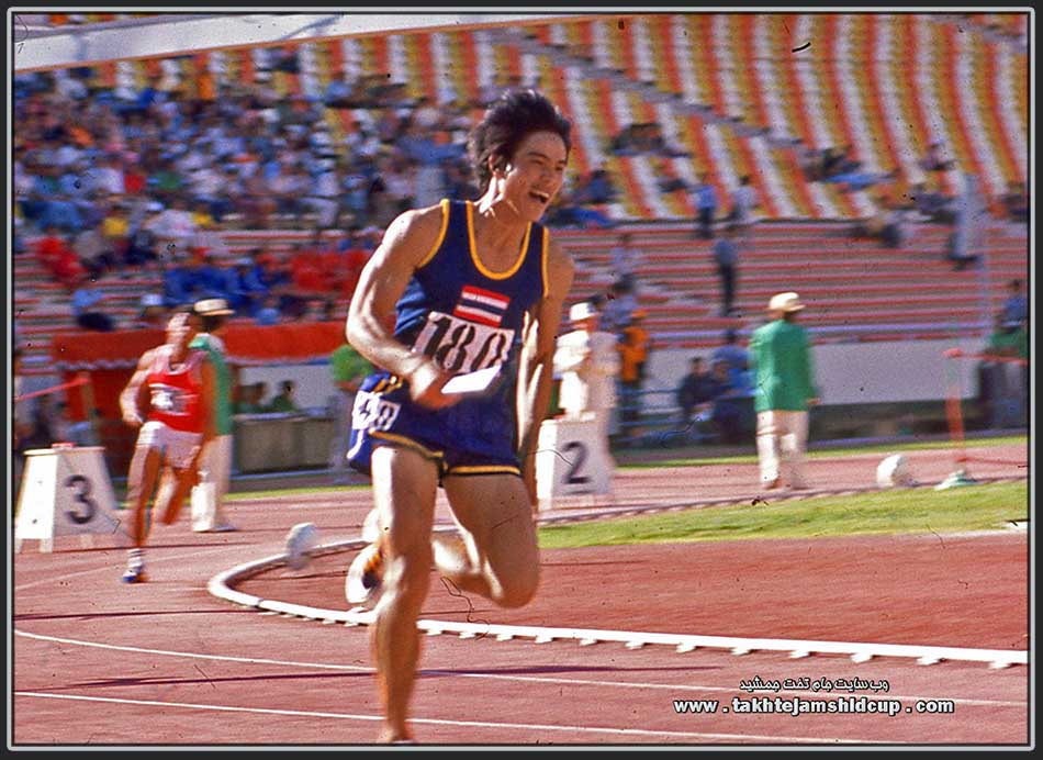 Suchart Jairsuraparp Thai and Asian Games 100m champion in 1978 and 4 × 100 m relay team in 1974