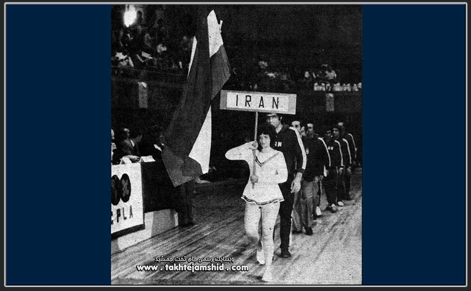 Iranian freestyle wrestling team , the opening ceremony of the tournament 1978 World Wrestling Championships